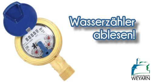Wasserzähler ablesen